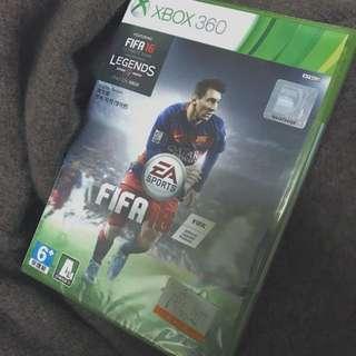 全新未拆 Xbox360 足球fifa16遊戲光碟