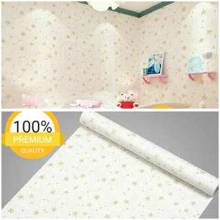 Grosir murah wallpaper sticker dinding indah putih bunga kecil