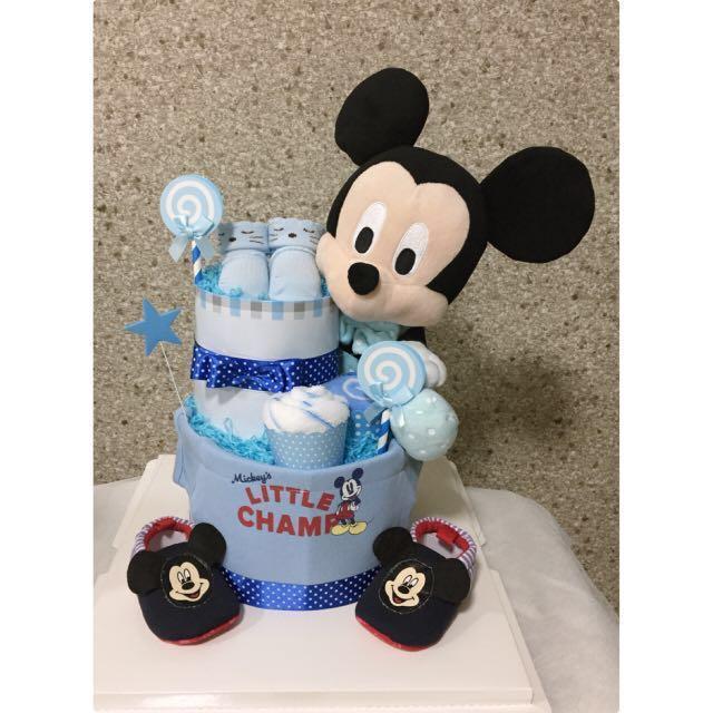 2 tiers Diaper cake