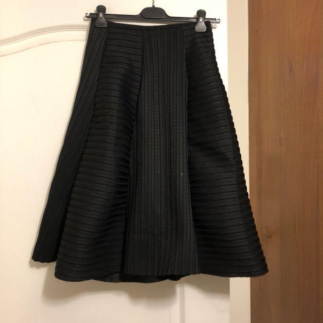太空棉不規則中長裙