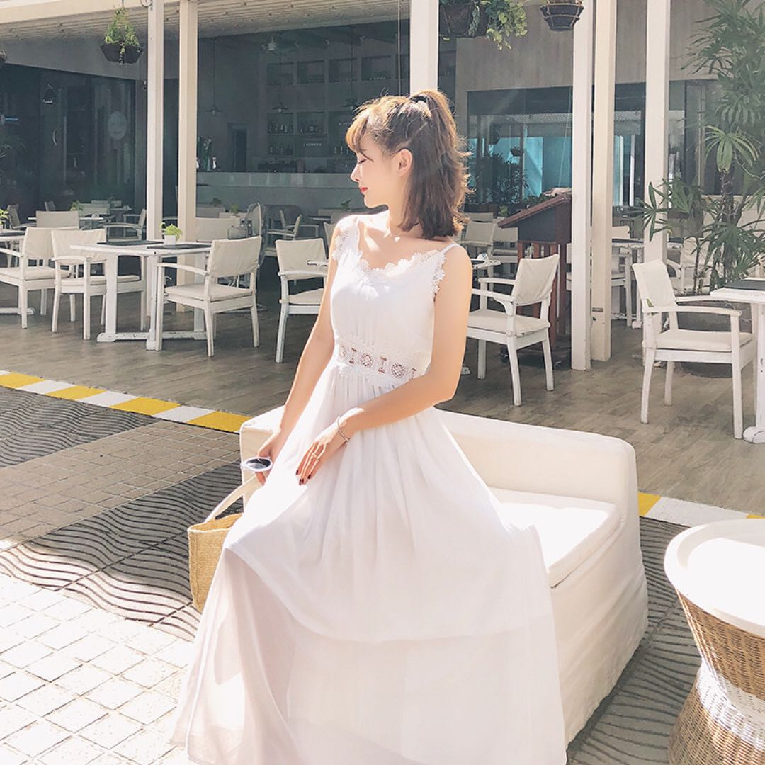 氣質超仙性感長洋裝