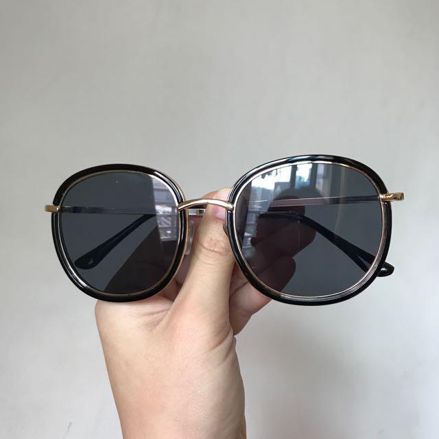 金屬復古圓框太陽眼鏡 #換季五折