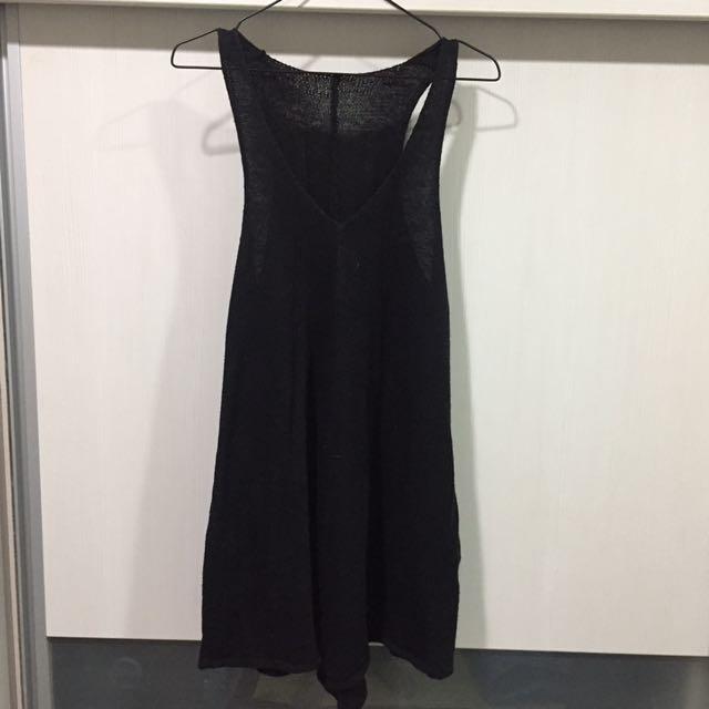 黑 針織 背心洋裝 #換季五折
