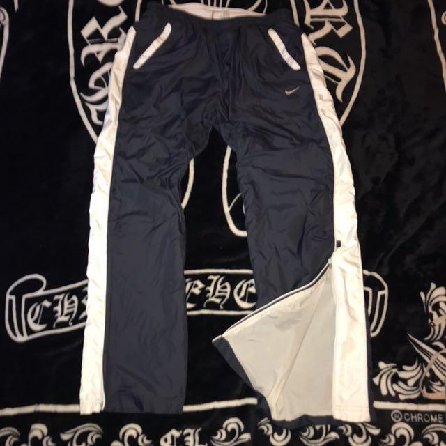 古著 NIKE Golf 電繡LOGO 尼龍 防風 微防水 舒適 輕巧 透氣 褲管拉鍊 運動褲 休閒褲