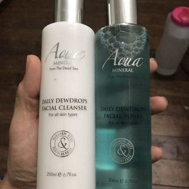 Aqua Minera Facial Cleanser And Toner