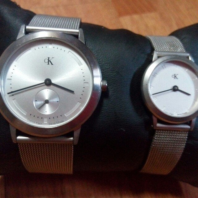 Auth. Ck His & Her Swiss Watch
