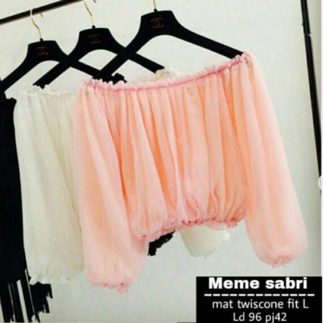 Baju Sabrina Salem/peach Harga Net