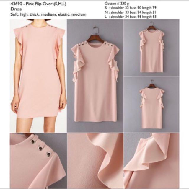Baru Dress Pink Import (Persis Zara)