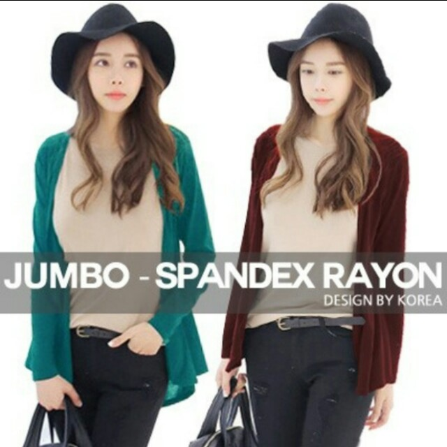 (big size) spandex rayon shawl cardigan