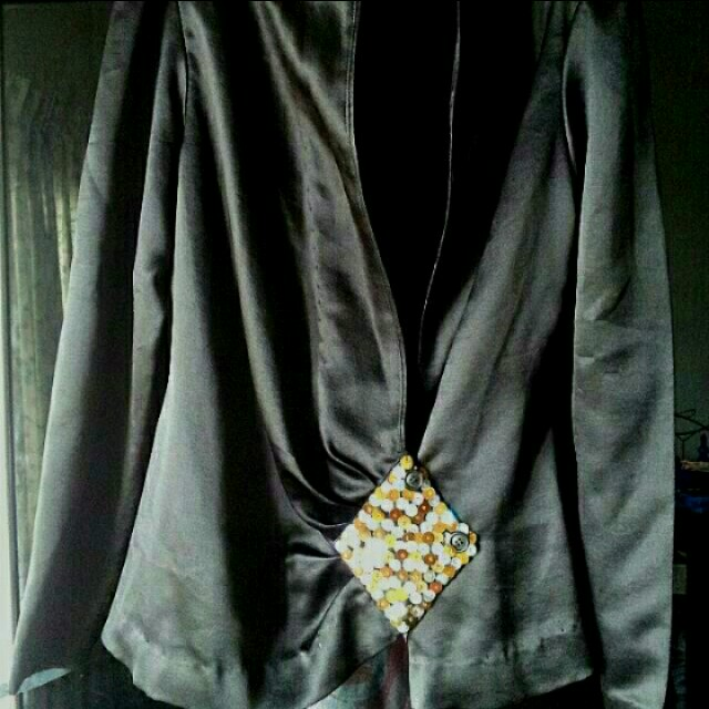 Black Satin Outer Wear