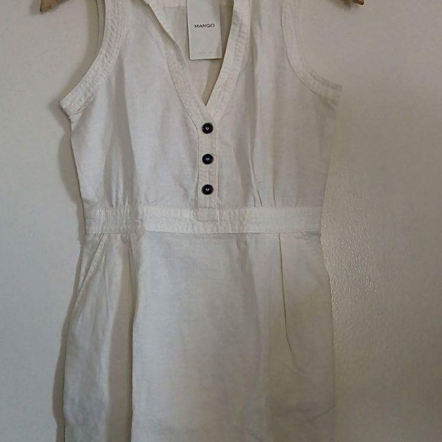 BNWT Mango White Casual Dress