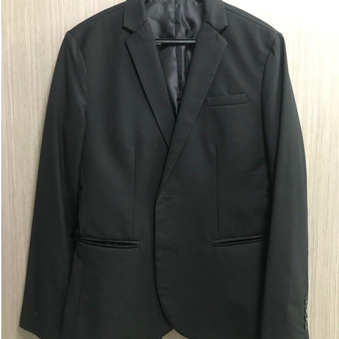 Brandless Formal Men's Blazer with 2 Buttons, Men's Fashion