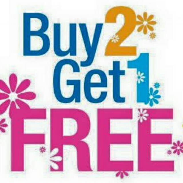 Buy 2 Get 1 Free Summer Promo!