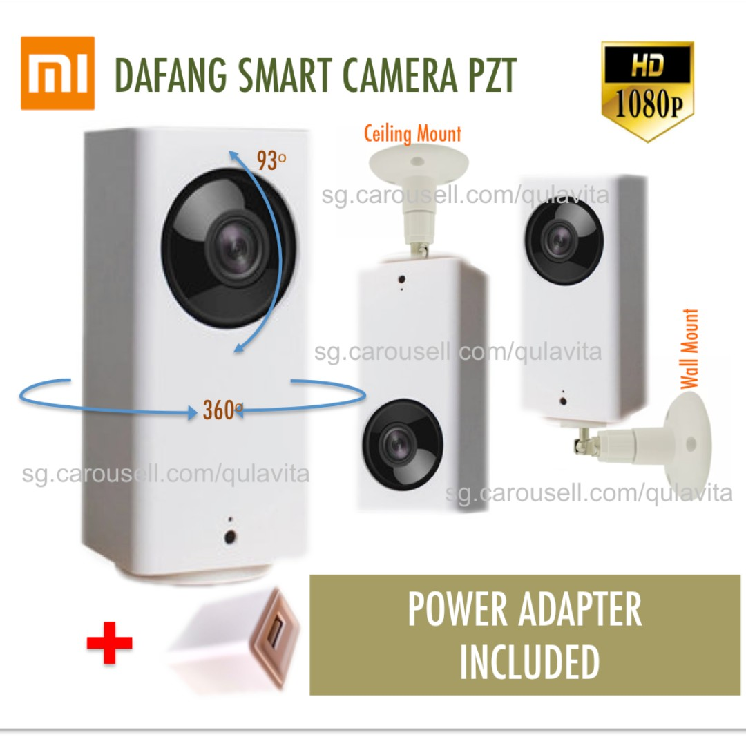 Xiaomi Dafang Ceiling Mount Ready Mijia Ip Wireless Hd Cctv 1080p Xiaofang Smart Wifi Camera With Night Vision Motion Tracking Electronics Others On Carousell