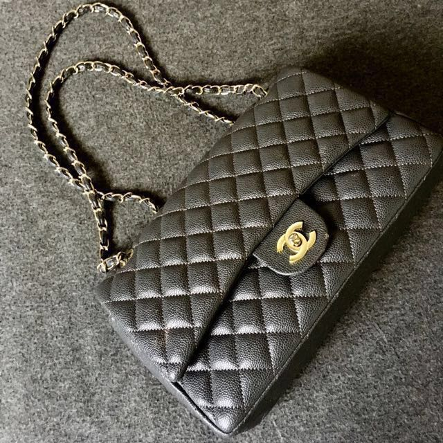 Chanel quilted maxi double flap