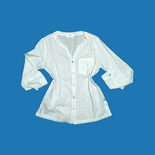 Chinese Collar White office sleeves