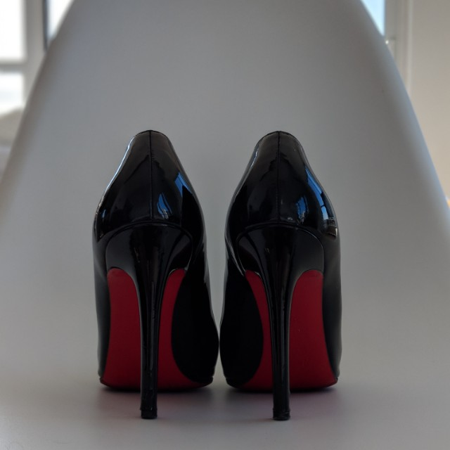 Christian Louboutins 100mm Pigalles, size 39.5