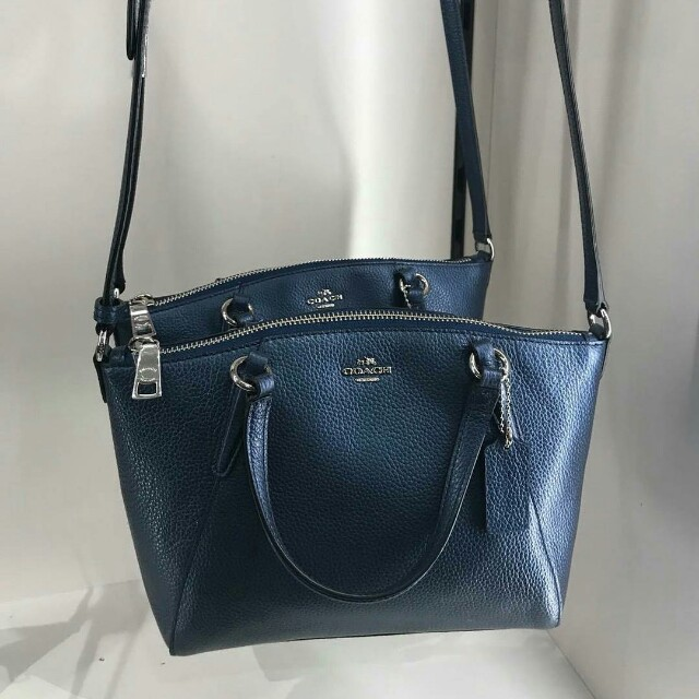 676c011ec9ecb Coach  F22316 Metallic Pebble Leather Mini Kelsey (Metallic Navy ...