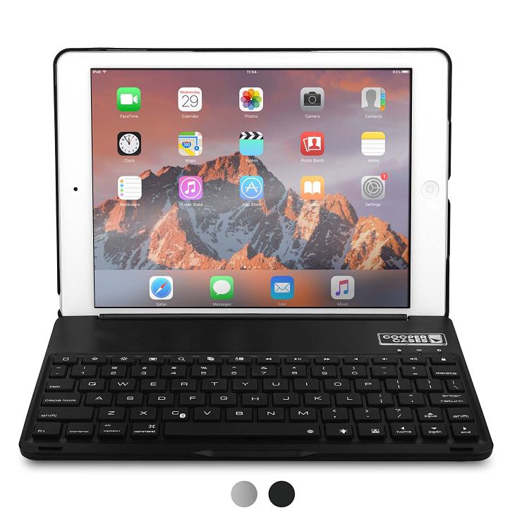 Cooper Notekee F8S Clamshell Backlit KB Case - iPad Air