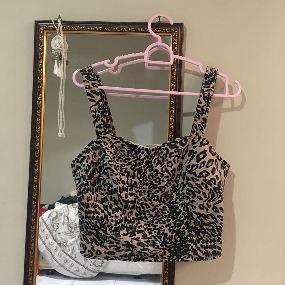 COTTON ON Cheetah Cutout Bralette