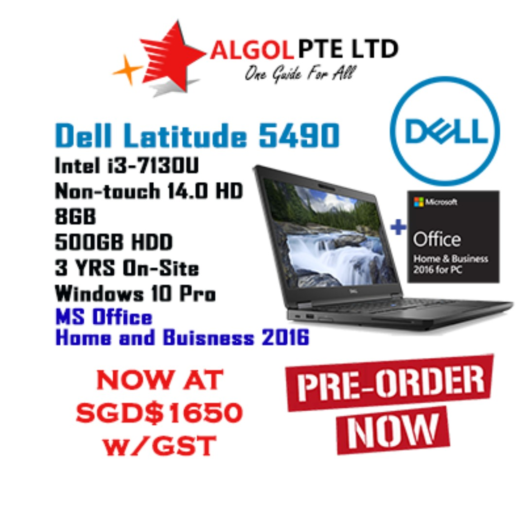 Awesome Bn Dell Latitude 5490 I3 8Gb 14 500Gb 3 Years W10 Pro Ms Office 2016 Pre Order Interior Design Ideas Clesiryabchikinfo