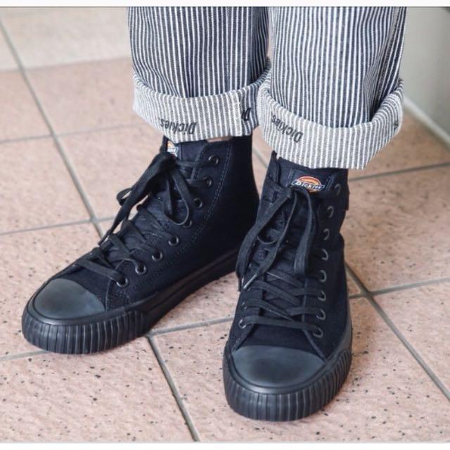 正版Dickies 全黑帆布鞋 #換季五折