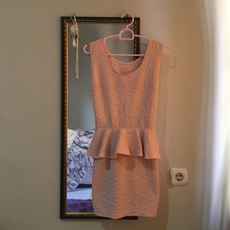 Dusty Pink Peplum Dress