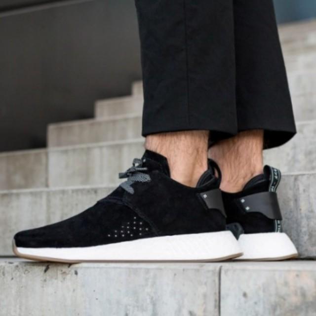 adidas nmd c2 black suede off 77% - www.usushimd.com