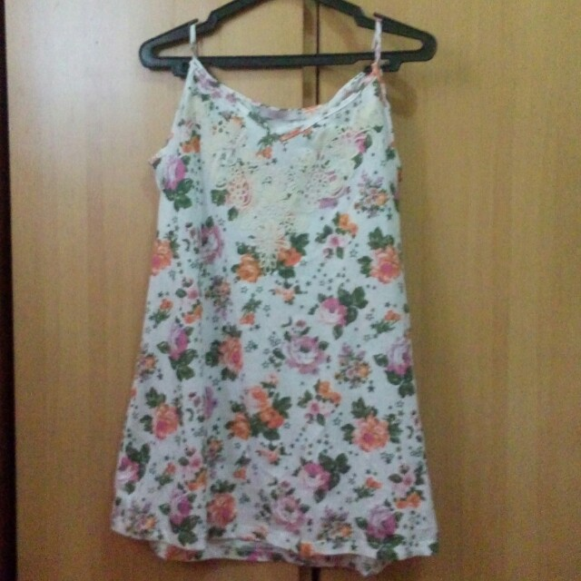 Floral sleeveless top or dress