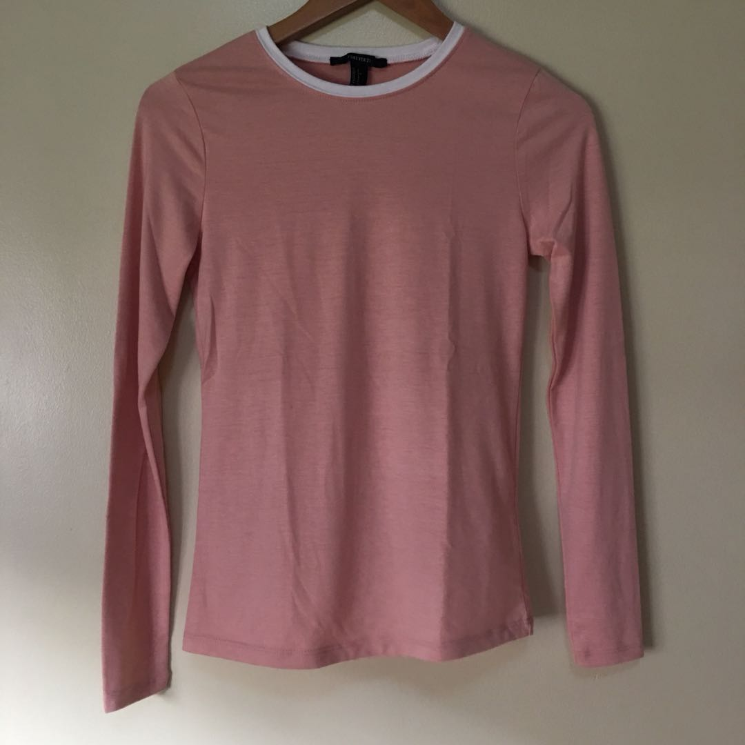 Forever21 Pink Long Sleeve Top