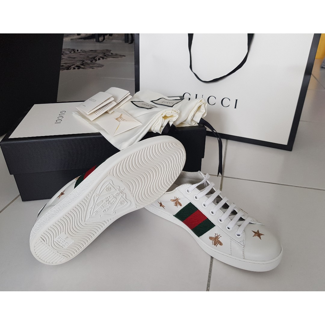 16956c8f17e SOLD  GUCCI Ace Embroidered Low-Top Sneaker