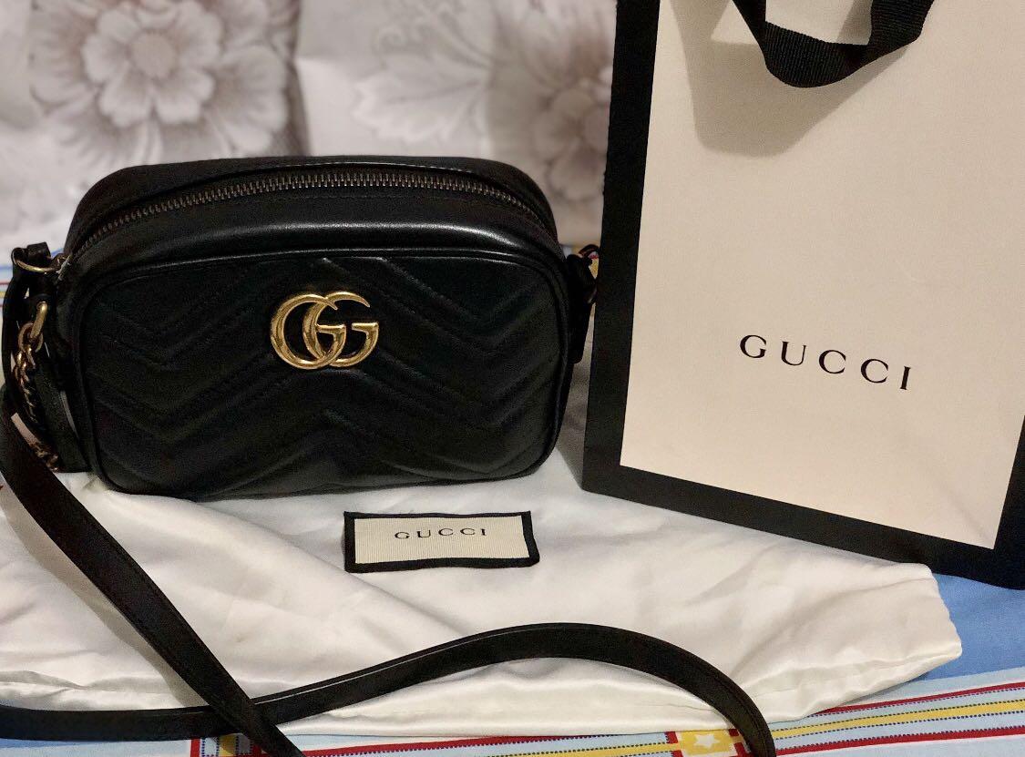 fde216eac9f Gucci Calfskin Matelasse Mini GG Marmont Bag