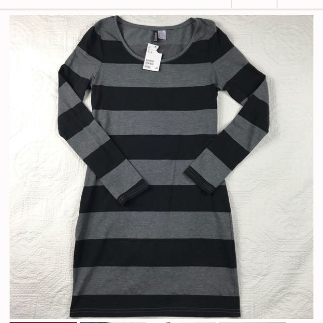 H&M Divided Striped Dress