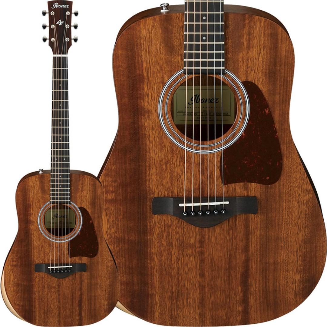 Musical Instruments & Gear Guitars & Basses 2019 New Style Ibanez Aw54jr-opn Artwood Solid Mahogany Top Mini Dreadnought Guitar & Gig Bag