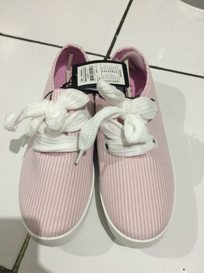 Indy bow plimsoll rubi shoes pink