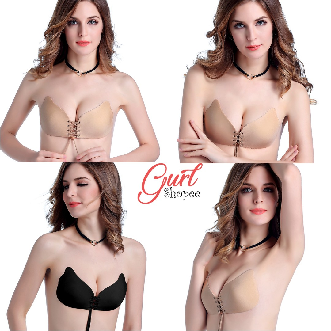 617dca34e INSTOCKS! Invisible Adhesive Push Up Backless Butterfly Bra + FREE ...