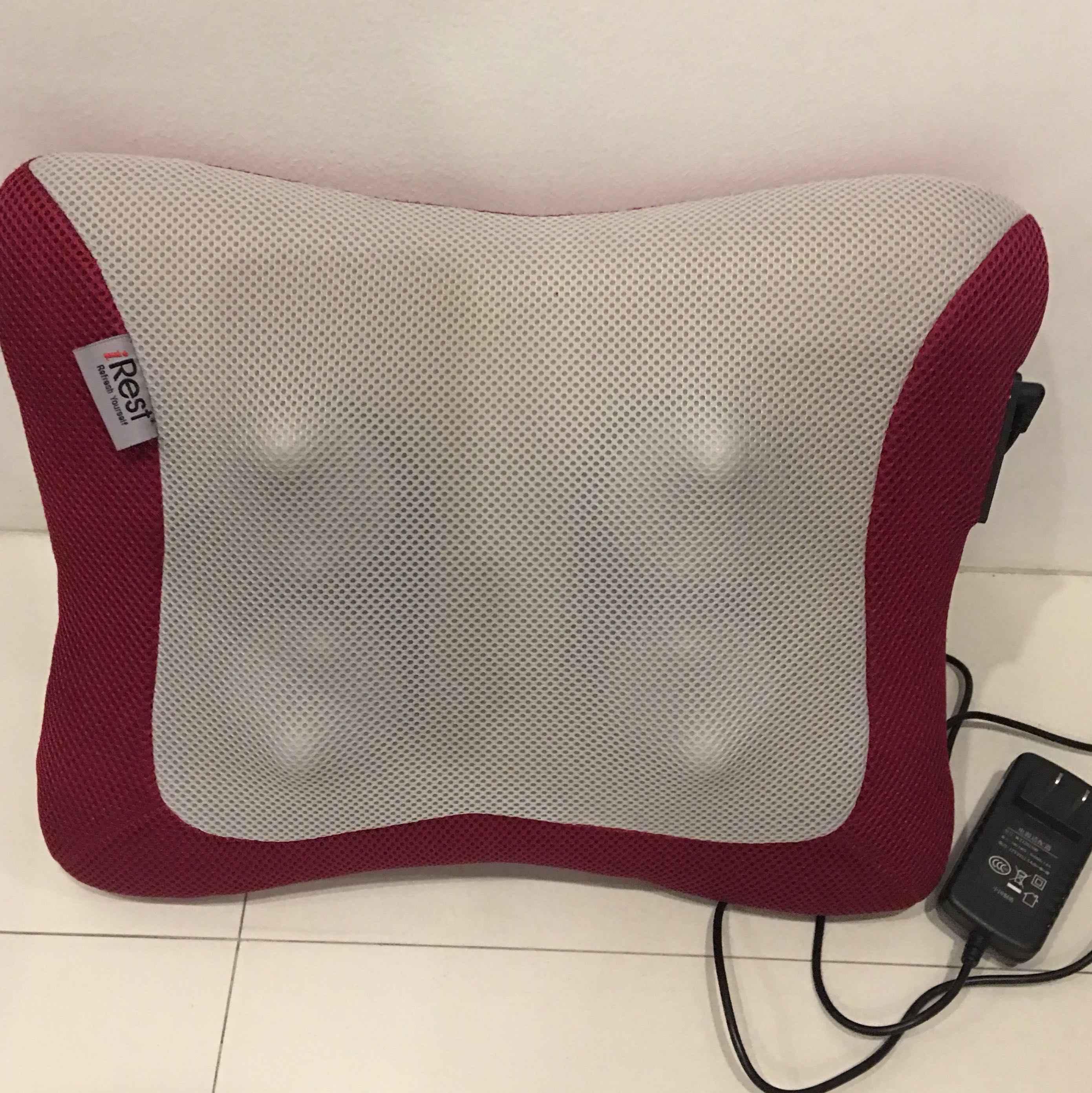 Irest Back Cushion Massager Maroon Electronics Others On Carousell