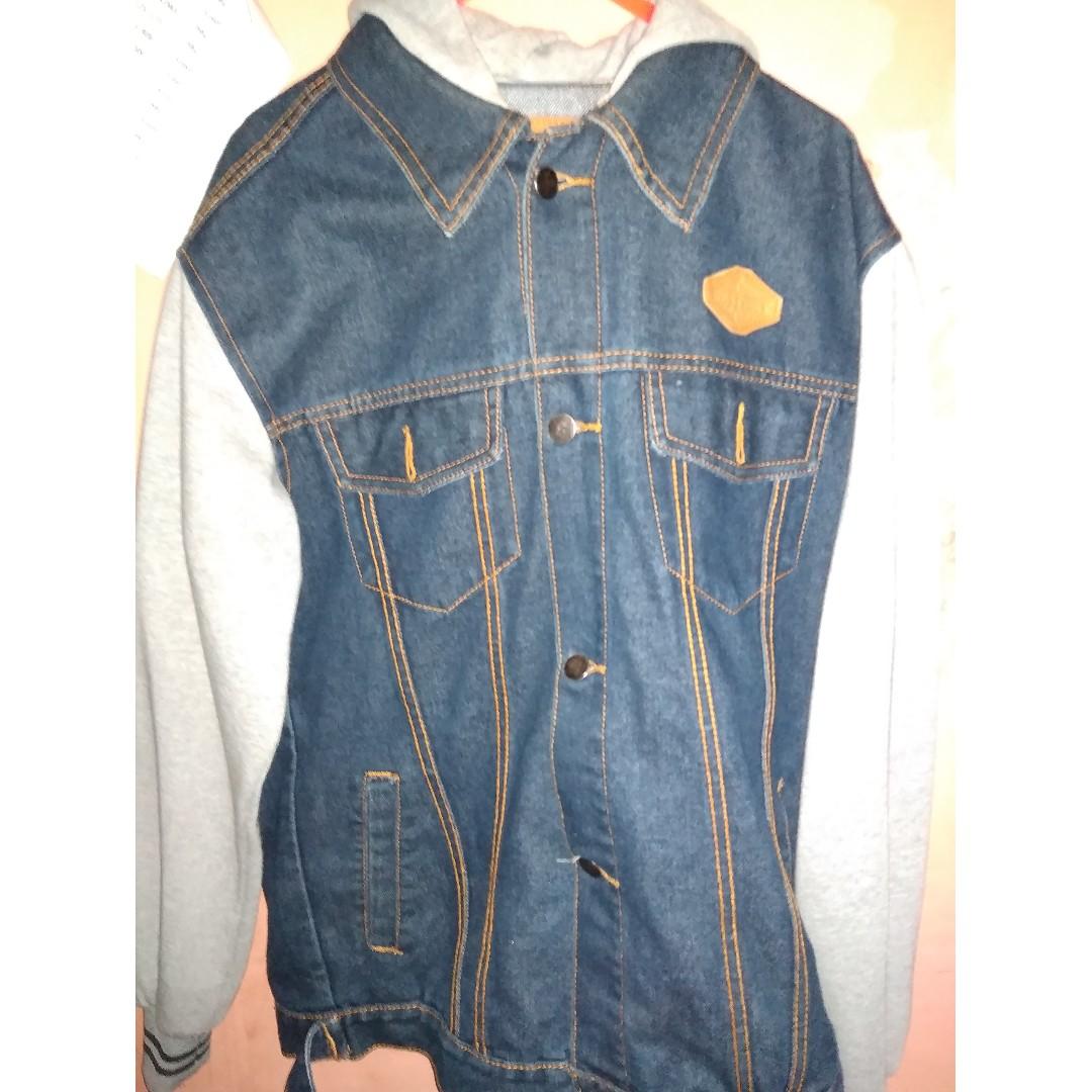 Jual Jaket Levis Berkupluk Welcome To Jean Pria Jeans Biru Tua Jak 2044 Restart Denim Ipb2018 Preloved Fesyen Pakaian Di Carousell