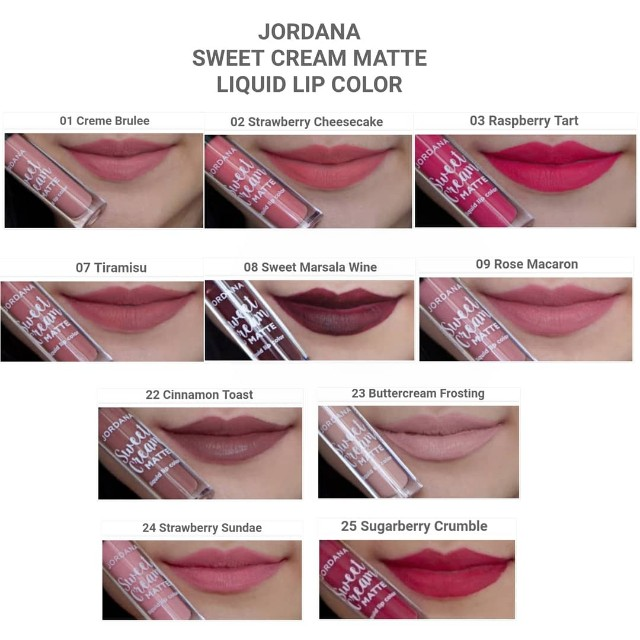 Jordana Sweet Cream Matte Liquid Lip, Health & Beauty, Makeup on Carousell