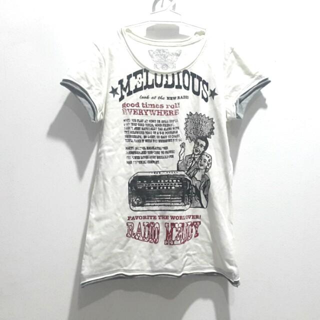 Kaos putih retro (10rb 3)