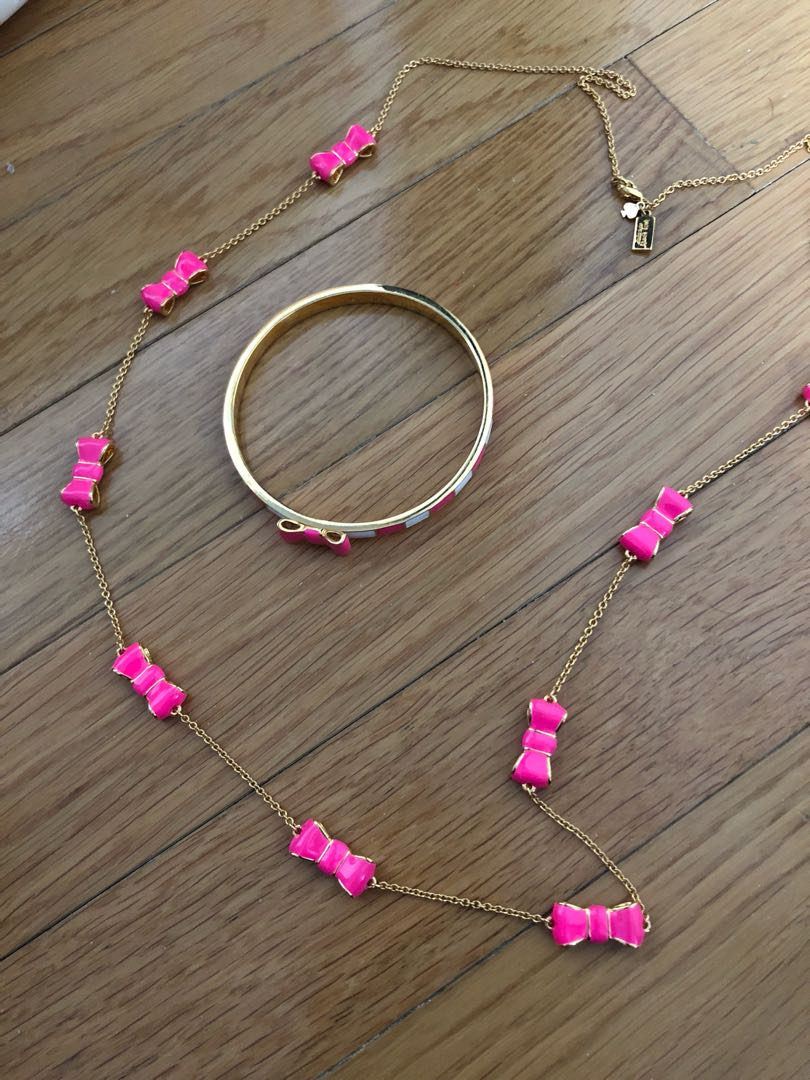 Kate spade necklace and bangle