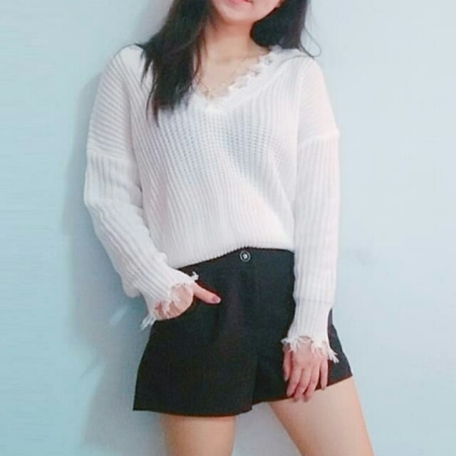 Knitted Top + Short Pants