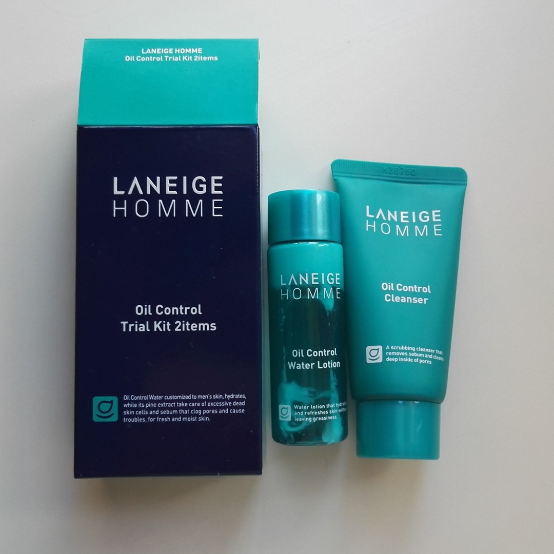 Laneige Homme Oil Control Trial Kit 2 Items