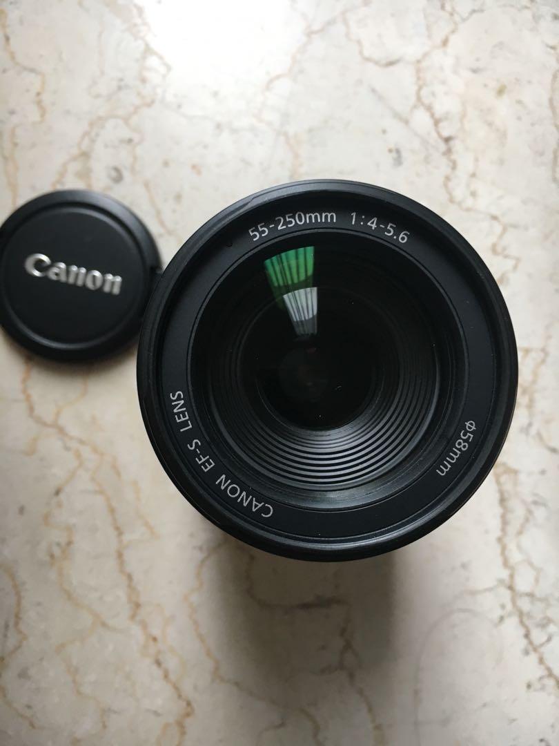 Lens Canon EF 50mm - f 1.8 II dan EF-S 55 -250mm - f 4 - 5.6