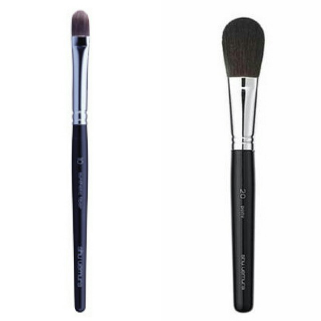 LESS EXTRA 30% - LAST DAY RM100 - 30% = RM70  SHU UEMURA BRUSH NO. 20 + SHU UEMURA NO. 10   MADE IN JAPAN  RM100 PER SET (RETAIL RM395)  PONY HAIR, EXTREMELY SOFT  100% AUTHENTIC & BRAND NEW AS ALWAYS  FREE BRUSH GUARD
