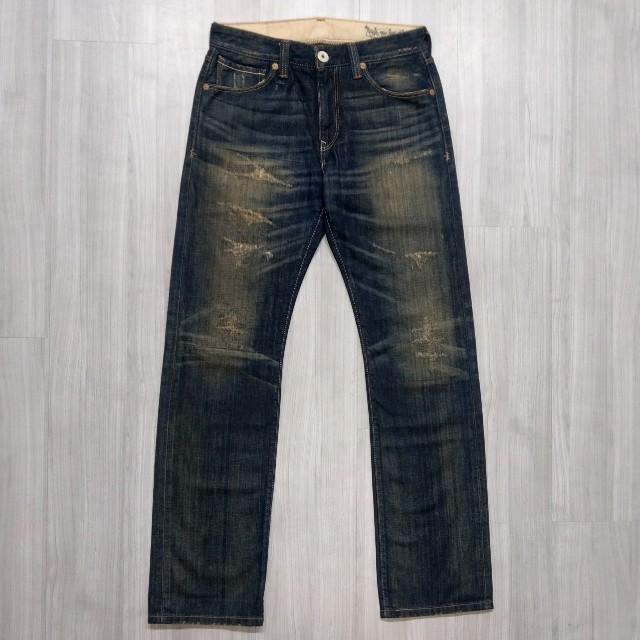 Levi's levis LH523-0027 w32 L34  刷色補丁直筒牛仔褲 523 512 534