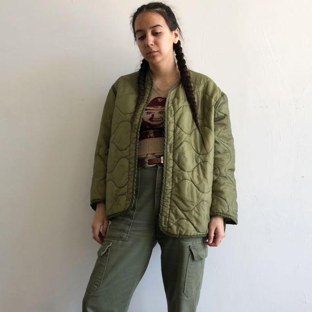 M65 美軍 公發 老品 Liner Jacket 古著 軍綠 夾克 舖棉外套 MODS 非 alpha 內裡外套