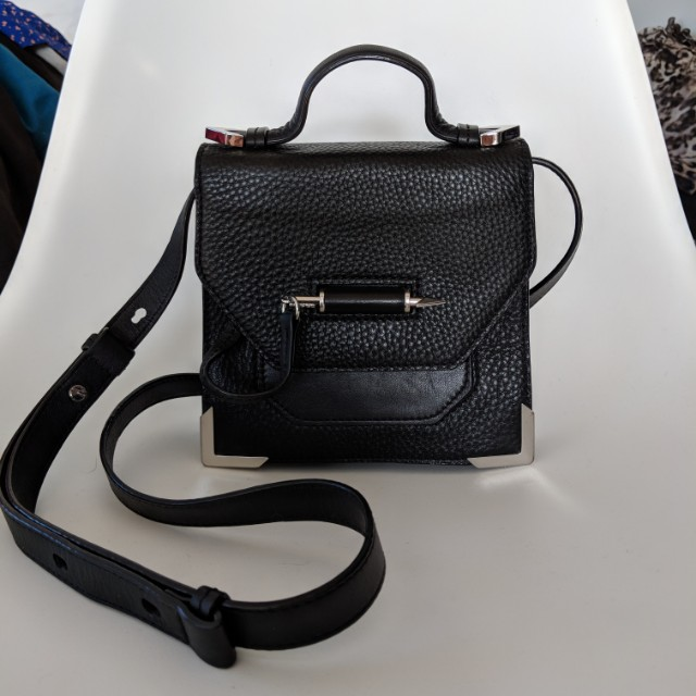 Mackage black leather rubie bag