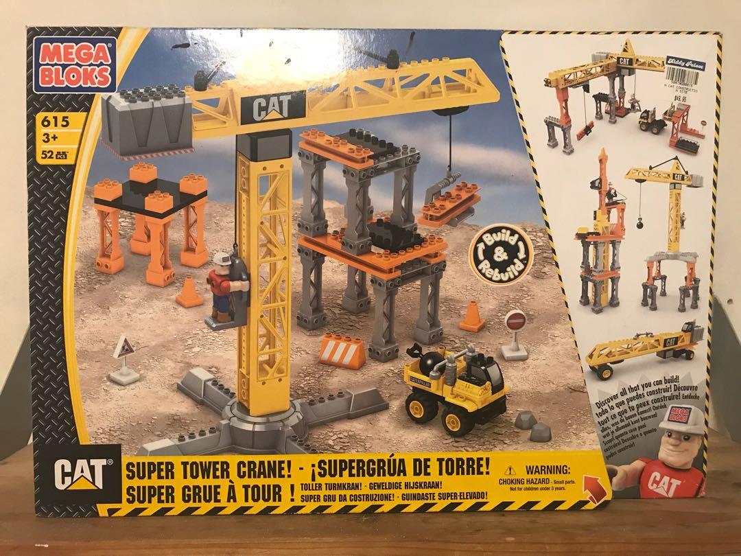 Mega Bloks Cat Super Tower Crane Toys Games Bricks Figurines