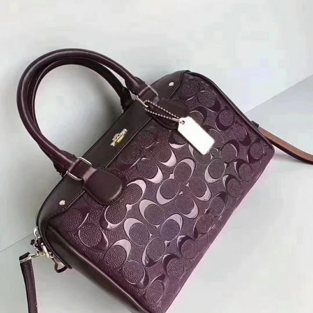 5a2591936a9ab MINI BENNETT SATCHEL IN SIGNATURE DEBOSSED PATENT LEATHER COACH ...